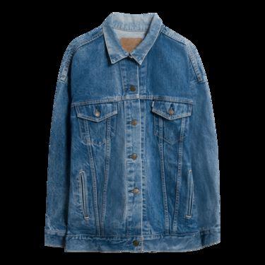 Levi's Vintage 'Live To Ride' Oversized Denim Jacket - Mid Blue