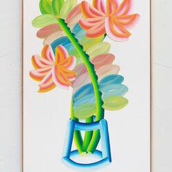 Palm Leaf With Flowers #1