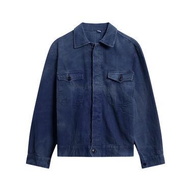 Vintage Men's Work Shirt - Blue