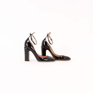 Valentino Patent Leather Ankle-Strap Pumps