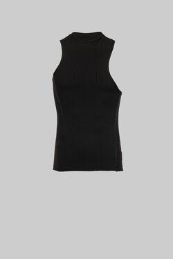 Black Asymmetrical Tank Top