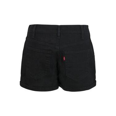 Levi's Rolled Cuff Black Denim Shorts