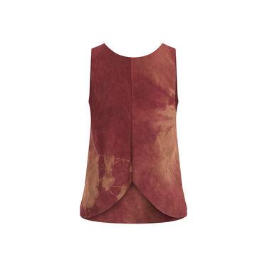 Vintage Suede Tie-Dye Tulip Top