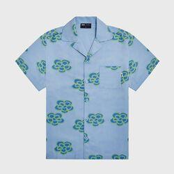 KROST x Barneys Floral Icon Bowling Shirt- Baby Blue