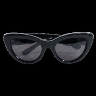 Balenciaga Cat Eye Black Acetate Logo Sunglasses