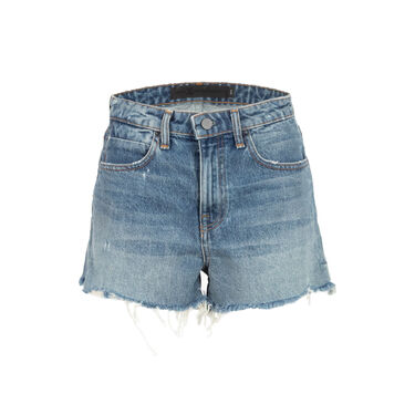 Denim x Alexander Wang High Rise Fitted Bite Shorts