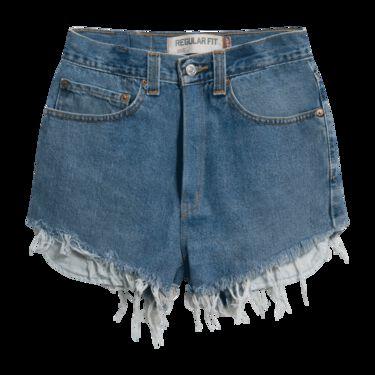Levi's Vintage 505 Cut-Off Denim Shorts - Medium Blue