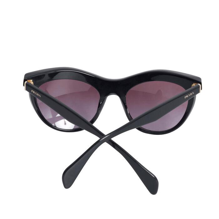 Prada Black Cat Eye Purple Crystal Studded Sunglasses