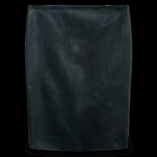 The Row Loattan Stretch Leather Black Mini Skirt