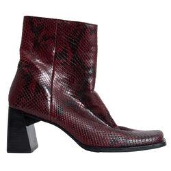 Vintage Nine West leather 'snakeskin' Ankle Boots