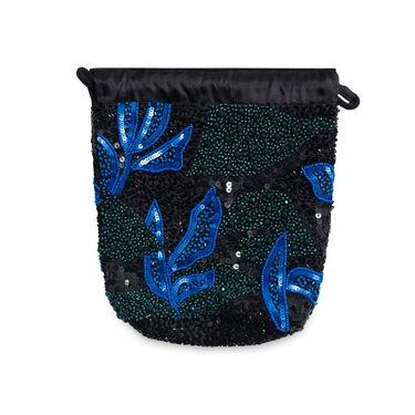 Pouch Sunsky Beaded Hat Bag - Black/Blue