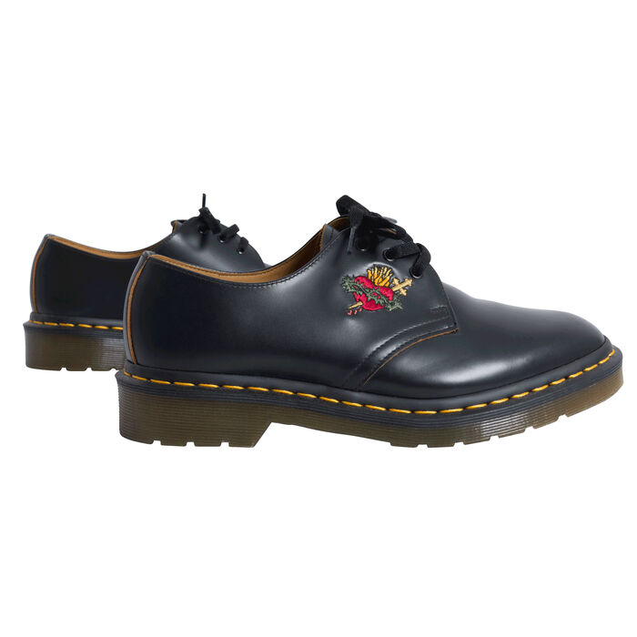 Vintage Dr. Marten's Supreme Shoes with Heart Cross-stitching