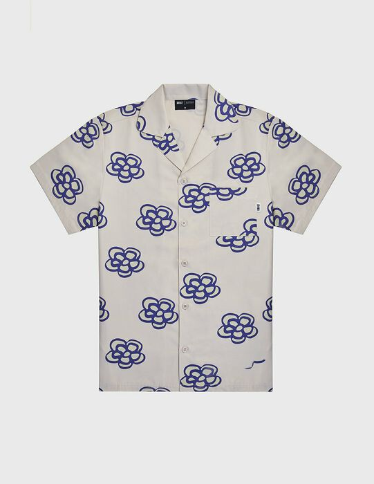 KROST x Barneys Floral Icon Bowling Shirt- Antique White