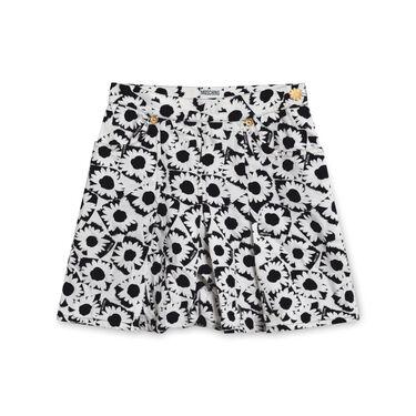 Moschino Pleated Floral Denim Skirt