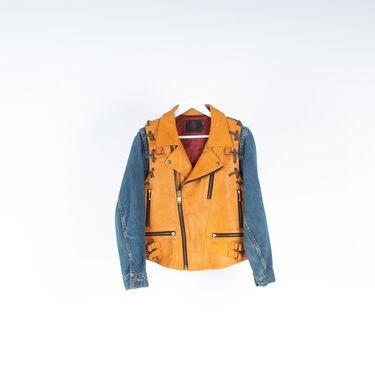 Hybrid Leather Vest / Denim Jacket