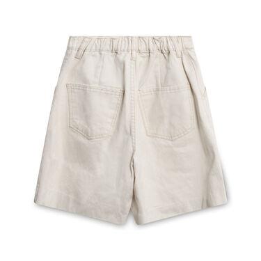 Oak + Fort Cream High-Waisted Denim Shorts