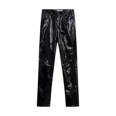 Fiorucci Black Leather Trousers