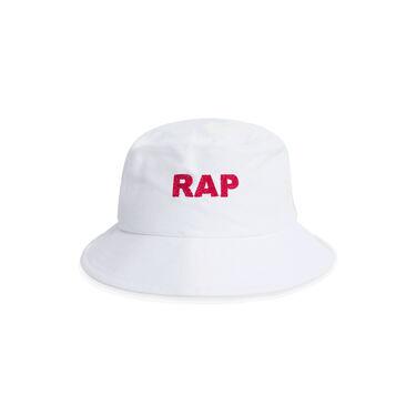 "Painter Bucket Hat ""Rap"" - White"