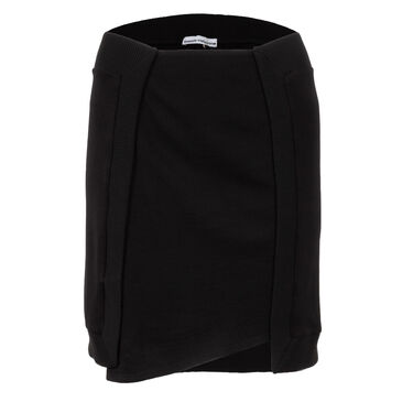 Paco Rabanne Stretch Knit Paneled Mini Skirt