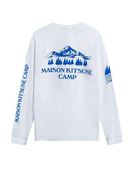 US MK Camp Long-Sleeved Tee-Shirt - White/Blue