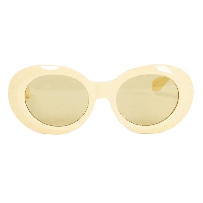 Diminish Oval Sunglasses in Yellow