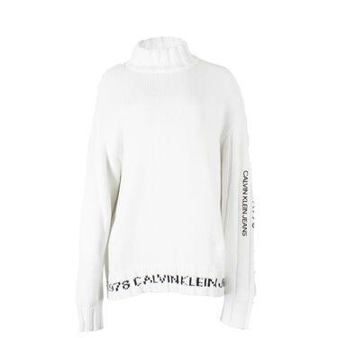Calvin Klein Jeans Est. 1978 White Cotton Turtleneck