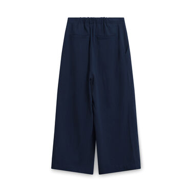 Elizabeth and James Wide-leg Trousers - Navy