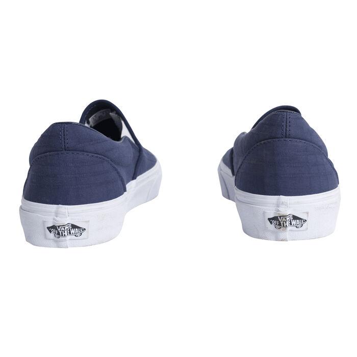 Vans Classic Slip-On Tonal Plaid Dress Blue/ True White