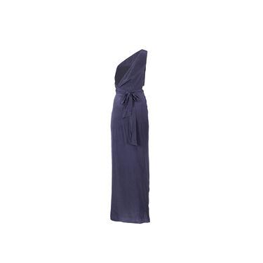 Azeeza Periwinkle Silk Wrap Gown