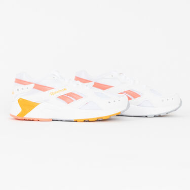 Reebok Aztrek Sneaker in White/Stellar Pink/Gold