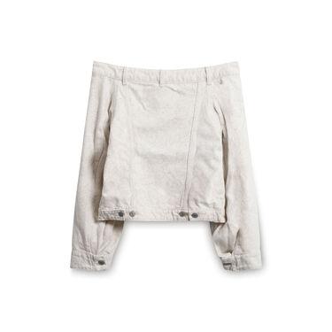GANNI x Levi's Printed Denim Jacket Nature - Cream