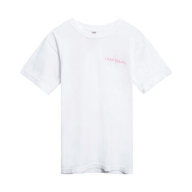 I Am Real Logo T-Shirt in White