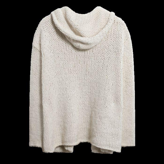 Vintage Hooded Knit Cardigan