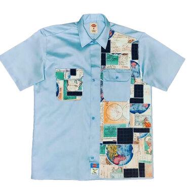 Axecents Map Pack S/S Work Shirt - Light Blue