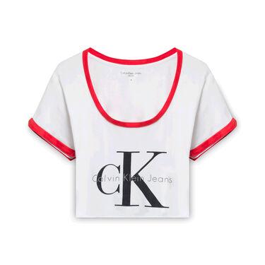 Cropped Calvin Klein T-Shirt - White