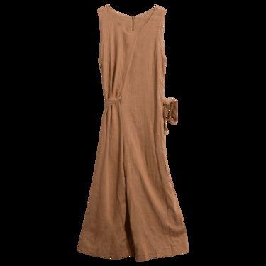 Vintage Copper Linen Jumpsuit