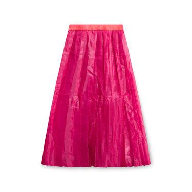 Vintage Facetasm Pleated Skirt - Hot Pink