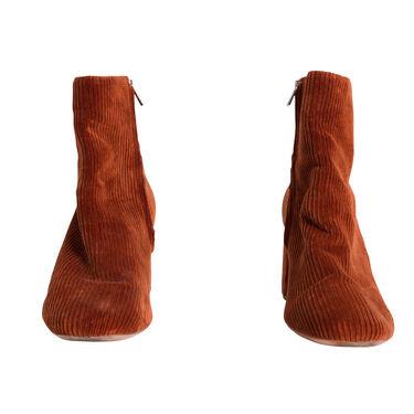 Loeffler Randall Corduroy Ankle Boot - Rust