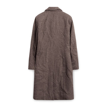 Designers Remix Charlotte Eskildsen Wool Houndstooth Peacoat - Brown