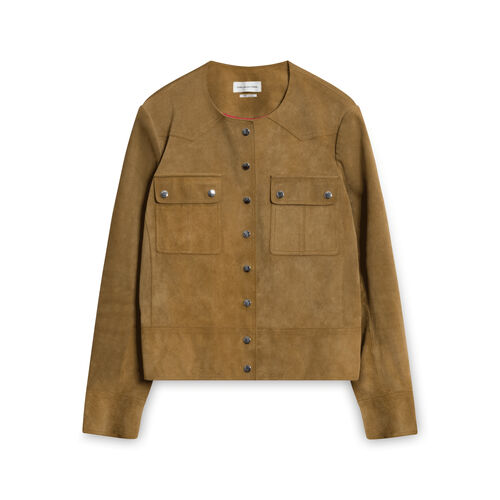 Isabel Marant Suede Button-down Jacket - Brown/Tan