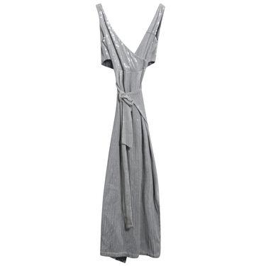 Azeeza Sequined Silk Wrap Gown
