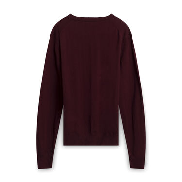 Ami Alexandre Mattiussi Knit Sweater - Burgundy