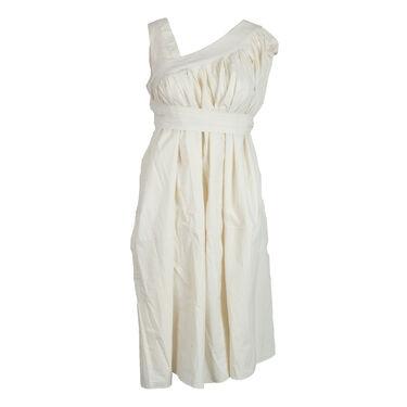 Katy Rodriguez Asymmetric Tunic Dress- Cream