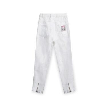 No!! Don't Go Denim Jeans - White