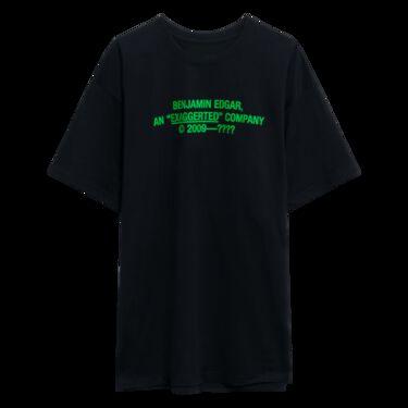 Benjamin.Edgar 'Exaggerated' T-Shirt in Black/Green