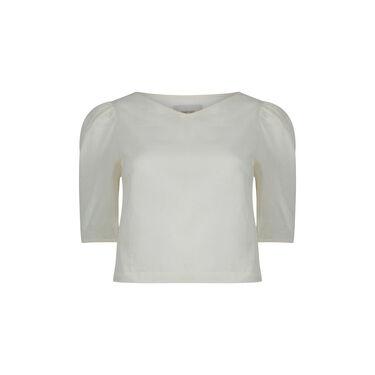 Penny Sage Sheer Cotton Top