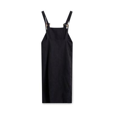 Baserange Duffy Overall Dress - Black