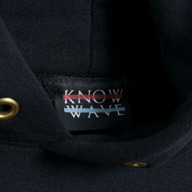 Know Wave Embroidered Pullover Hoodie