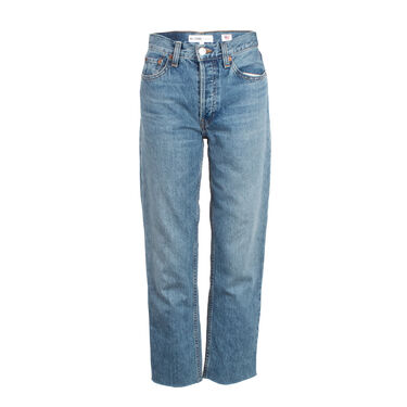 Re/Done High Rise Stovepipe Jeans