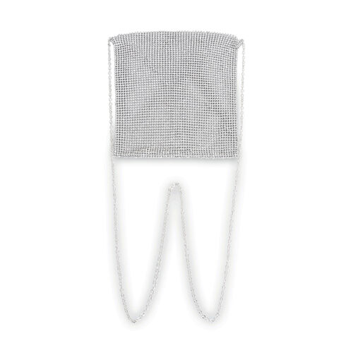 Silver Diamond Mesh Bag